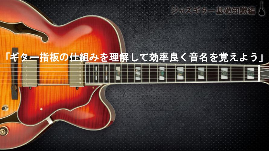 ギター指板の仕組みを理解して効率良く音名を覚える説明図