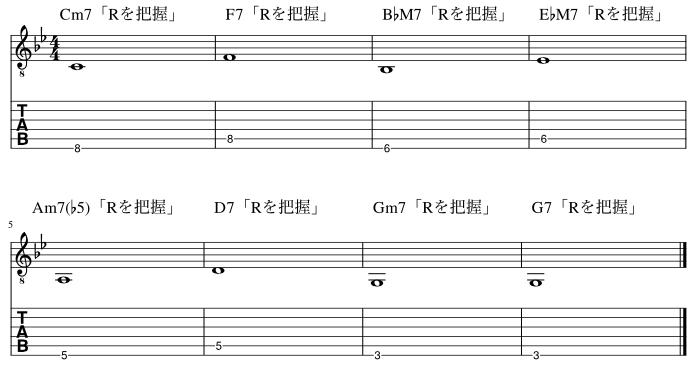 ルートのコードトーン把握練習例11