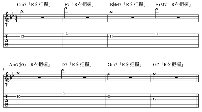 ルートのコードトーン把握練習例8