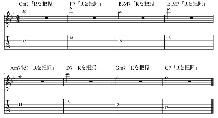 ルートのコードトーン把握練習例9