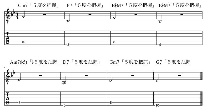 6弦と5弦の5度把握