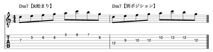 Ⅱm7フレーズ1_楽譜
