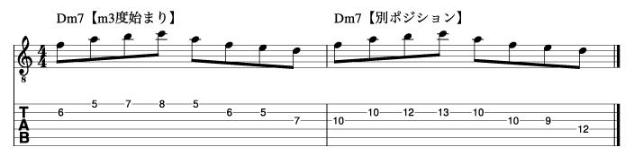 Ⅱm7フレーズ3_楽譜