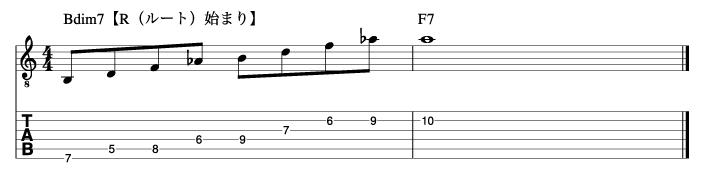ディミニッシュフレーズ1_楽譜