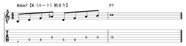 ディミニッシュフレーズ2_楽譜