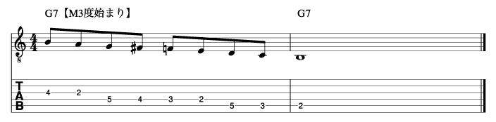 ビバップスケール基本フレーズ2_楽譜