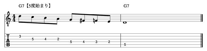 ビバップスケール基本フレーズ3_楽譜