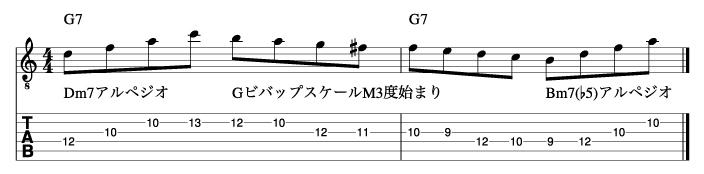 ビバップスケール応用フレーズ2_楽譜