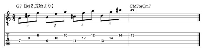 ホールトーンフレーズ10_楽譜