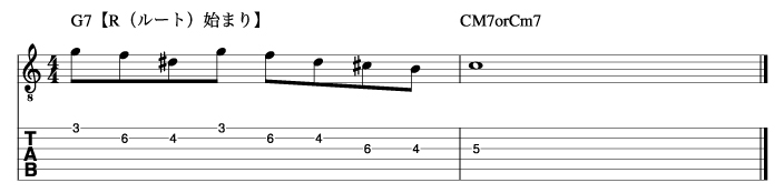 ホールトーンフレーズ3_楽譜