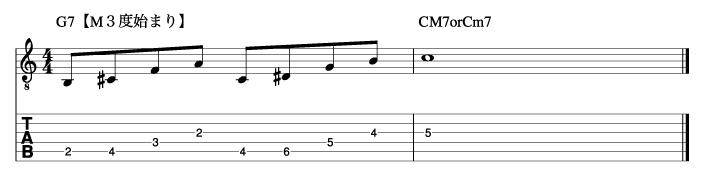 ホールトーンフレーズ9_楽譜