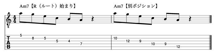 ルートから始まるマイナートニックフレーズ2_楽譜