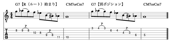 定番オルタードフレーズの使い方_楽譜