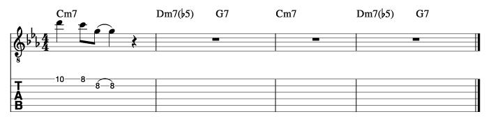 朝日のようにさわやかに風コード進行_ピックアップフレーズ使い方例1_楽譜