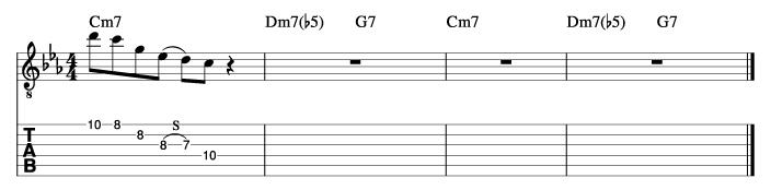 朝日のようにさわやかに風コード進行_ピックアップフレーズ使い方例2_楽譜