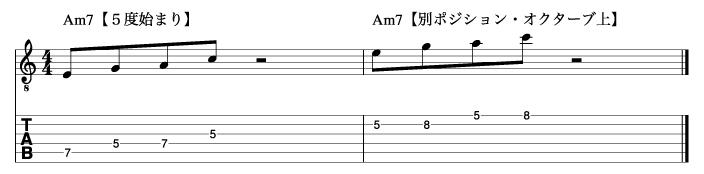 5度から始まるマイナートニックフレーズ1_楽譜