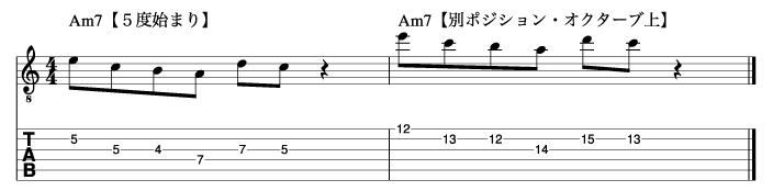 5度から始まるマイナートニックフレーズ2_楽譜