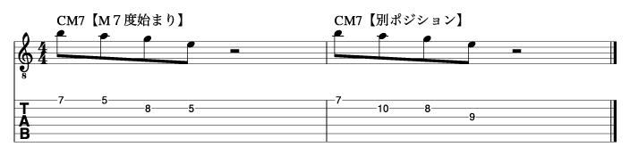 M7度から始まるトニックフレーズ2_楽譜
