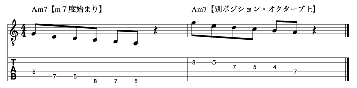 m7度から始まるマイナートニックフレーズ2_楽譜