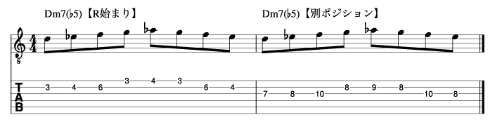 Ⅱm7(♭5)フレーズ1_楽譜