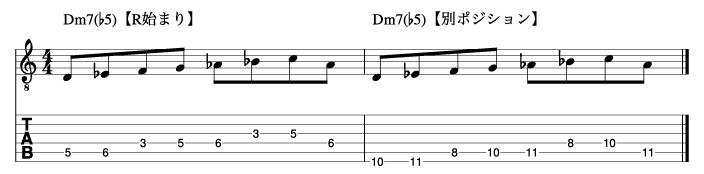 Ⅱm7(♭5)フレーズ2_楽譜