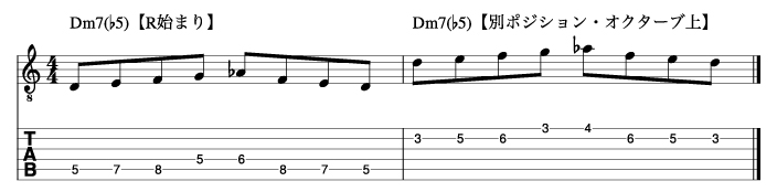 Ⅱm7(♭5)フレーズ3_楽譜