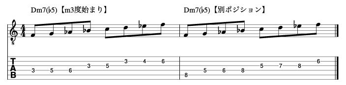 Ⅱm7(♭5)フレーズ4_楽譜