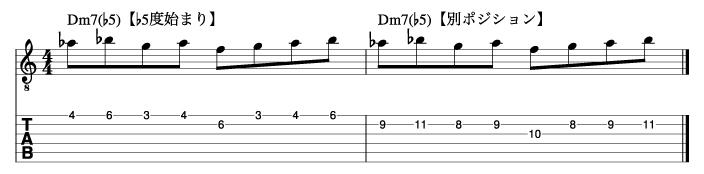 Ⅱm7(♭5)フレーズ5_楽譜