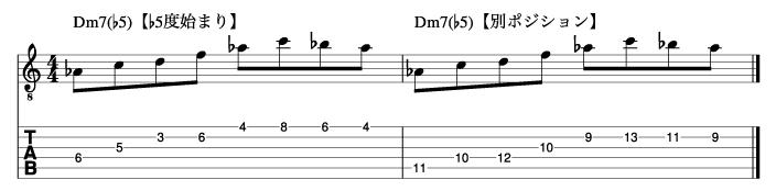 Ⅱm7(♭5)フレーズ6_楽譜