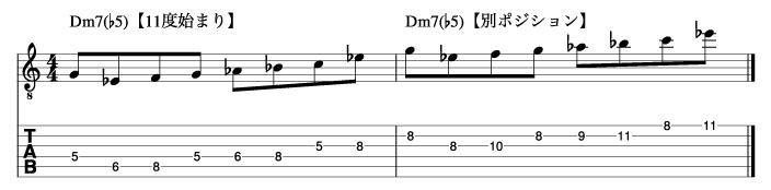 Ⅱm7(♭5)フレーズ8_楽譜
