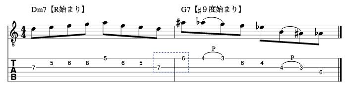 サブドミナントフレーズとドミナントフレーズを繋げた例2