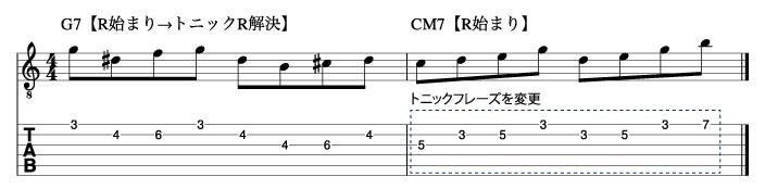 トニックフレーズを変更した例2_楽譜