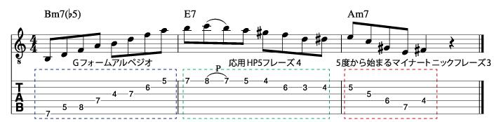 マイナーツーファイブフレーズ2_楽譜