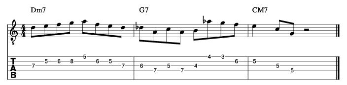 メジャーツーファイブフレーズ1_楽譜