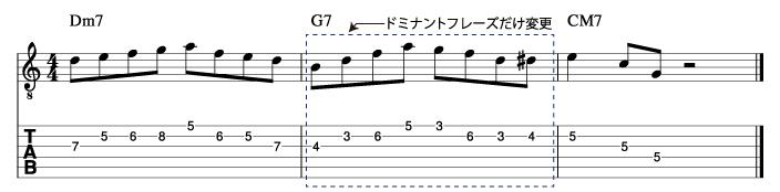 メジャーツーファイブフレーズ2_楽譜