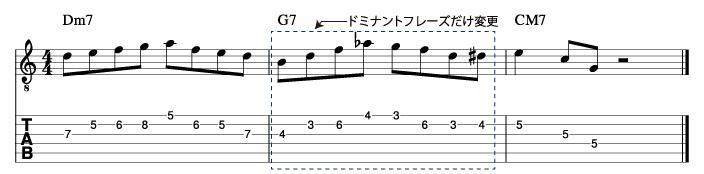 メジャーツーファイブフレーズ3_楽譜