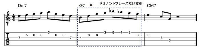 メジャーツーファイブフレーズ4_楽譜