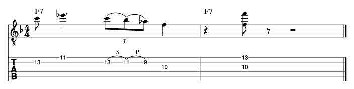 ウエスモンゴメリー風ソロフレーズ1_楽譜