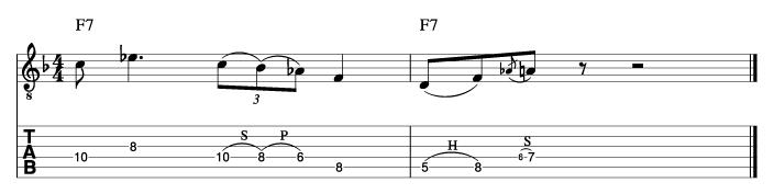 ウエスモンゴメリー風ソロフレーズ2_楽譜