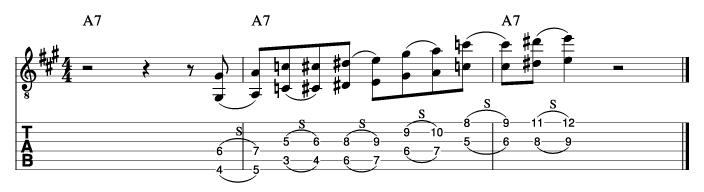 ウエスモンゴメリー風ソロフレーズ3_楽譜