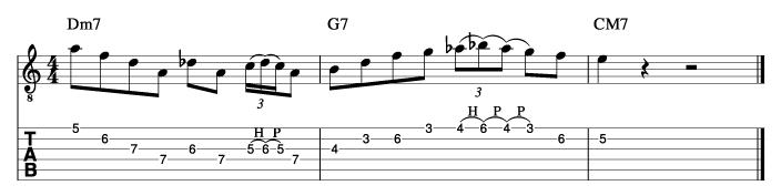 グラントグリーン風ソロフレーズ2_楽譜