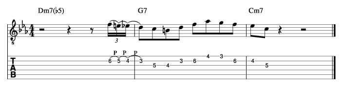 グラントグリーン風ソロフレーズ4_楽譜