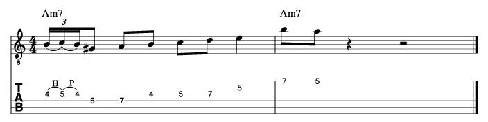 グラントグリーン風ソロフレーズ5_楽譜
