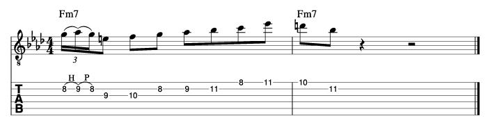 グラントグリーン風ソロフレーズ6_楽譜