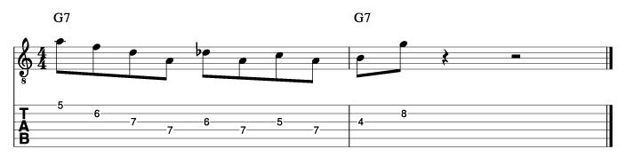 グラントグリーン風ソロフレーズ8_楽譜