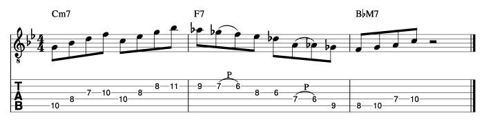 ジャズフレーズ分析譜例1_楽譜