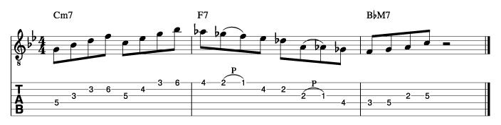 ジャズフレーズ分析譜例2_楽譜