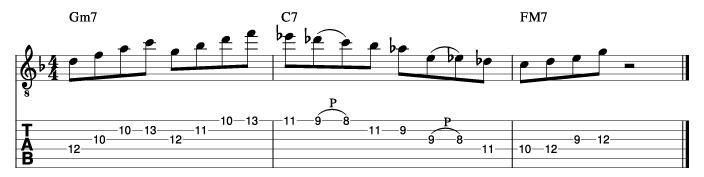 ジャズフレーズ分析譜例3_楽譜