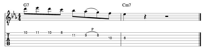 ジョンスコフィールド風ソロフレーズ5_楽譜