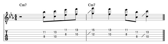 ジョージベンソン風ソロフレーズ1_楽譜